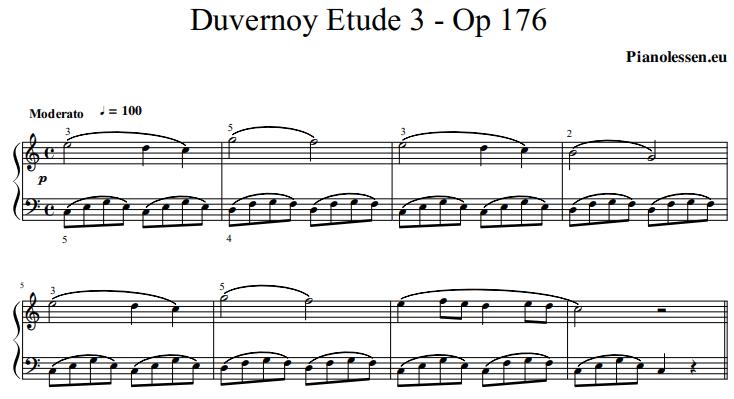 duvernoy-opus 176-etude-3