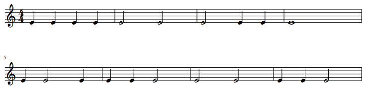 ritme dictee 1 - ritme oefenen