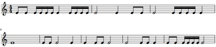 Ritme dictee 3 - ritme oefenen