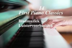 14 first piano classics - bladmuziek