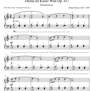 Kaiser-wals bladmuziek piano