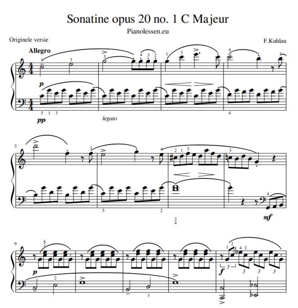 Kuhlau opus 20 1-1 PDF sheet