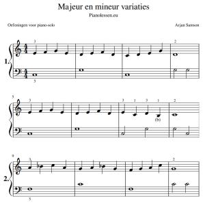 Majeur mineur variaties bladmuziek PDF