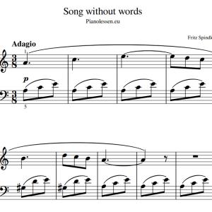 voorbeeld bladmuziek PDF