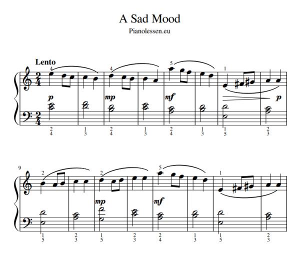 Bladmuziek piano sheet