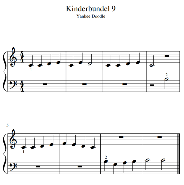 kinder bladmuziek piano