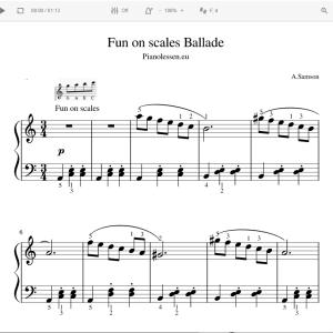 Fun on scales Ballade Meespeeltrack en PDF