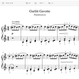 Gurlitt Gavotte Luistervoorbeeld - Meespeeltrack