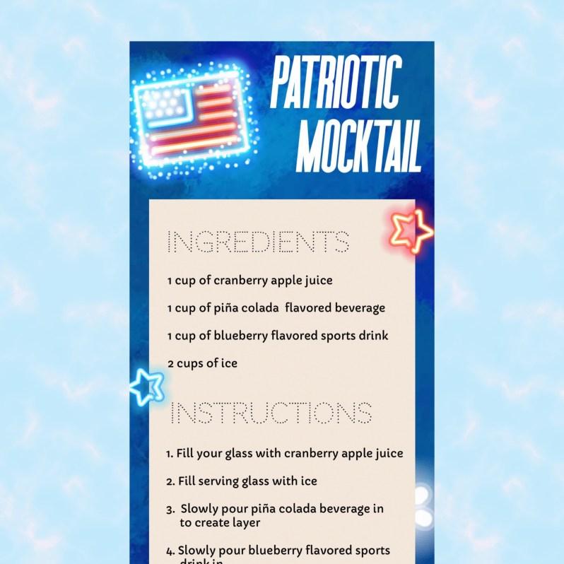 4th of July Mocktail Recipe DIY