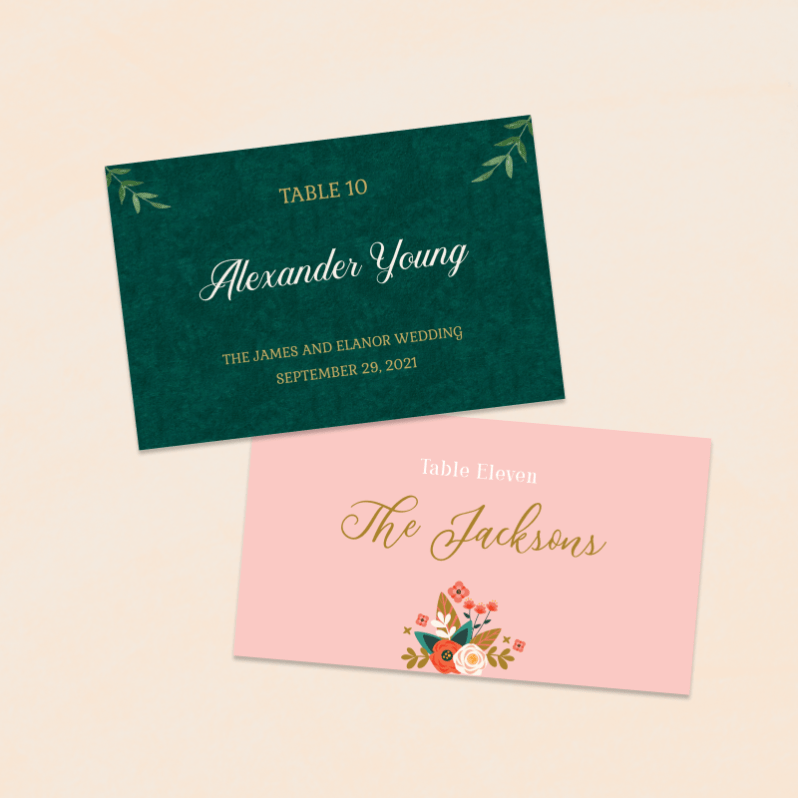 Wedding - Table Cards