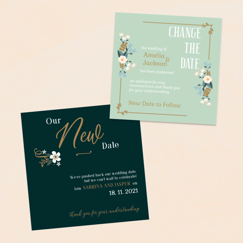 Wedding - Change the Date Card