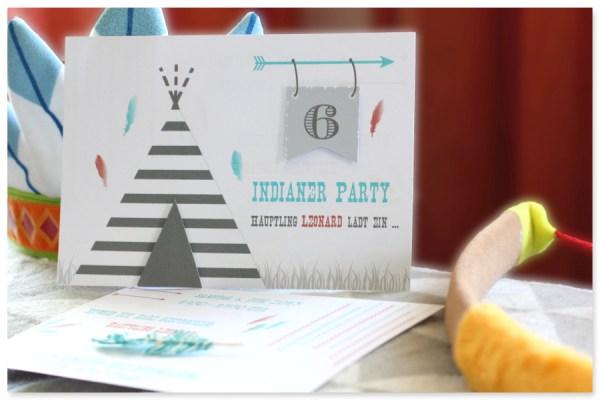 Einladung Indianerparty