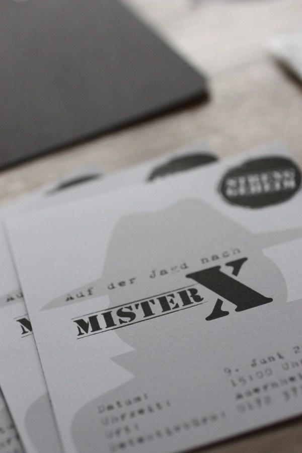 Einladung detektive mr x