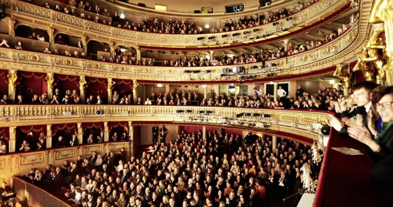 At a Strauss & Mozart concert in Vienna Opera House