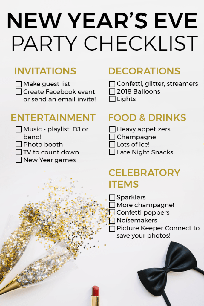 new year s eve party ideas checklist picture keeper
