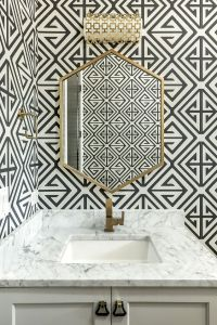 geometric bathroom wallpaper