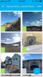 select photos in app