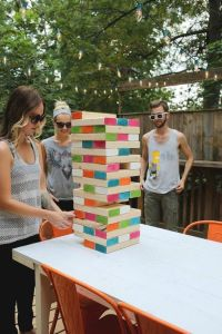 people play large Jenga