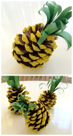 pinecone pineapple craft
