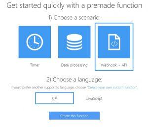 Creating new Webhook API app
