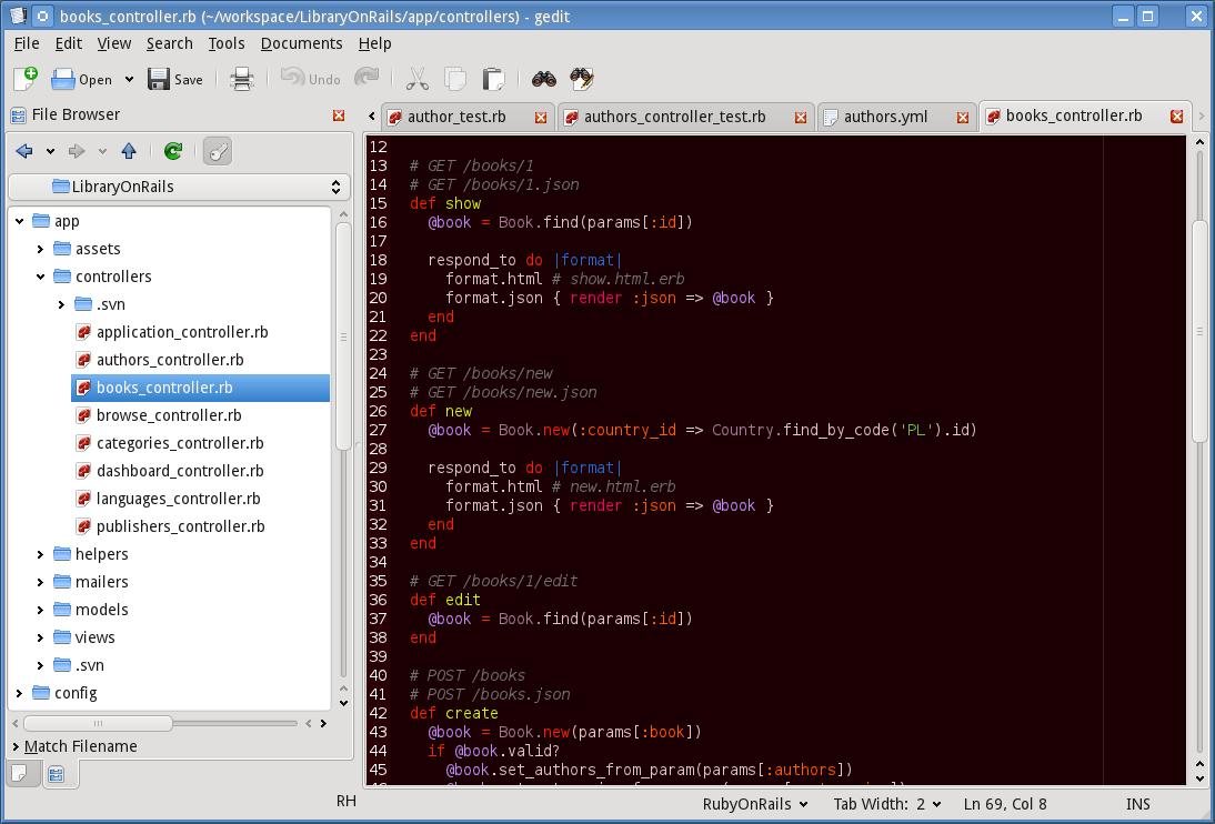 Gedit + Gmate w KDE