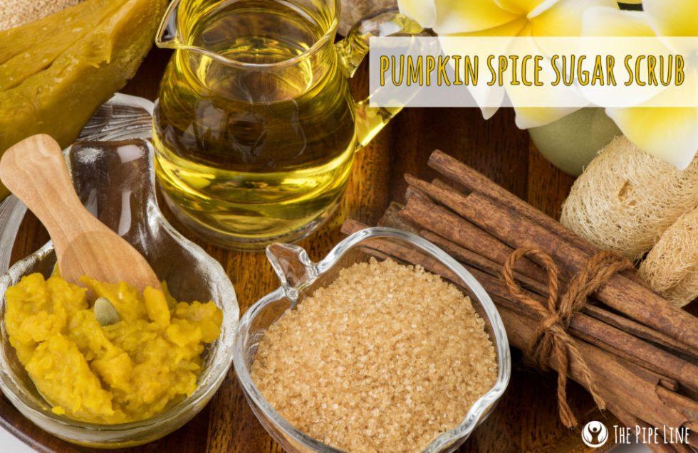DIY Pumpkin Spice Sugar Scrub.