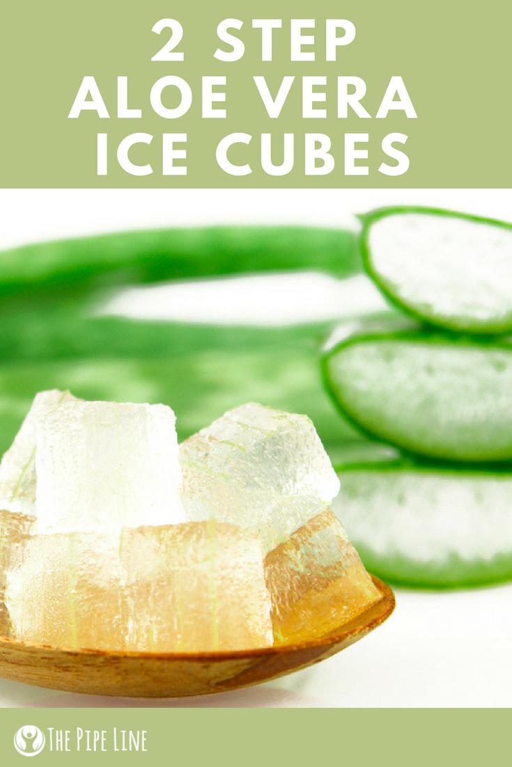 Aloe Vera Ice Cubes