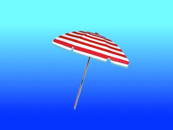 Red and white umbrella to symbolise summer jobs