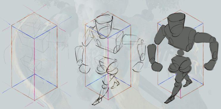 Step one of PixelSquid Creature Design