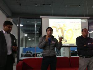 Rajat, Kavin, Aloke at 91 Springboard