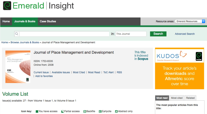 Journal of Place Management and Development