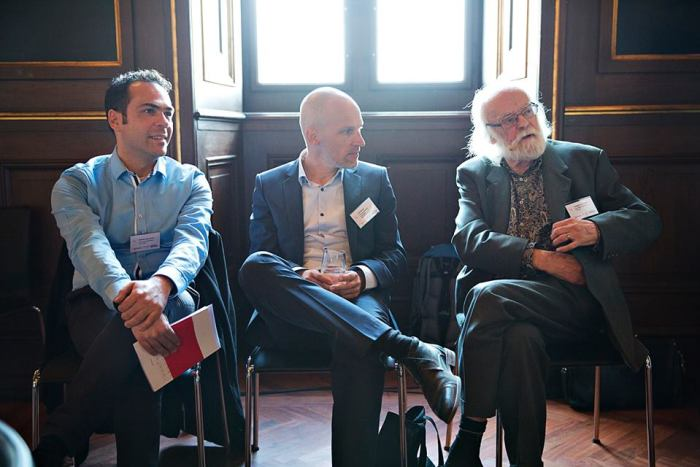Mihalis Kavaratzis (left) with Erik Braun (centre) and Greg Ashworth.