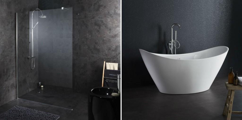 salle de bain noir et blanc idees et