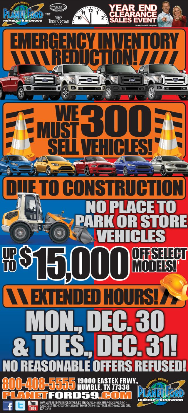 construction clearance  fords    planet ford planet ford planet ford