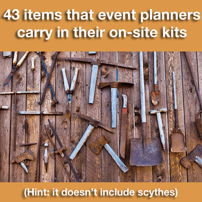 Event Planner On-Site Kit for Day-Of-Event