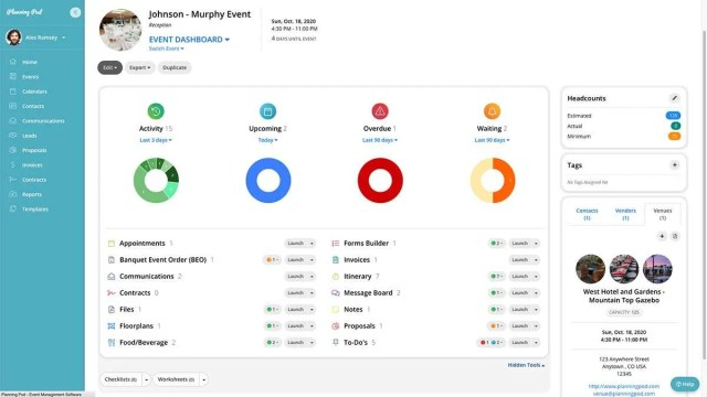 Planning Pod Event Dashboard