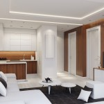 Blog Plano Plano Small Modern Apartment Interior Living Room With Small Kitchen And With Wood Wall Panels