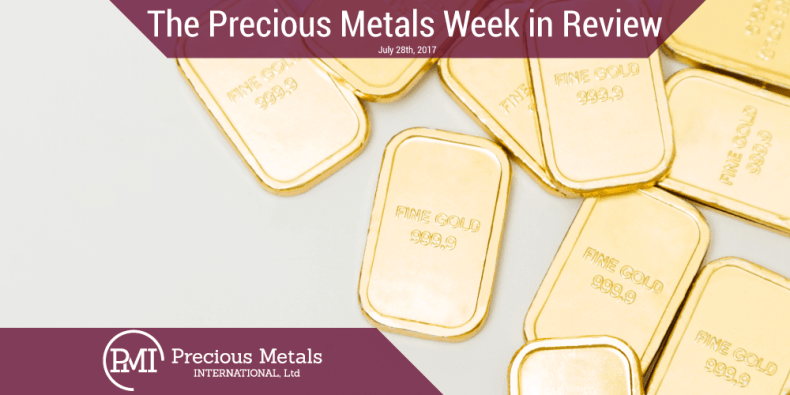 The Precious Metals Week in Review - July 28, 2017 - Precious Metals International