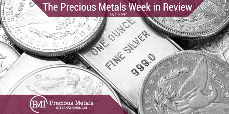 The Precious Metals Week in Review - July 21, 2017 - Precious Metals International