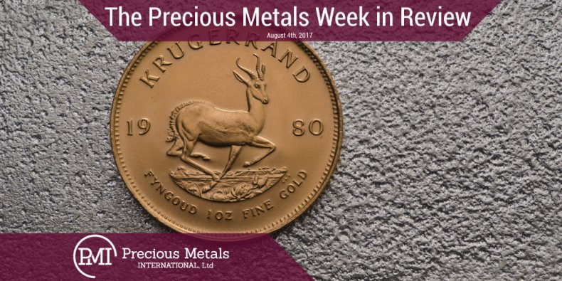 The Precious Metals Week in Review - August 4, 2017 - Precious Metals International