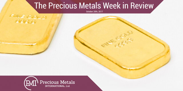 The Precious Metals Week in Review - October 20, 2017 - Precious Metals International