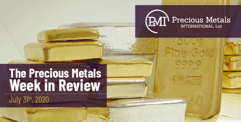 The Precious Metals Week in Review - July 31st, 2020.