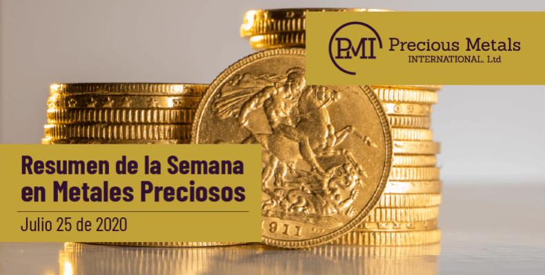 Resumen de la Semana en Metales Preciosos - Julio 25 de 2020.