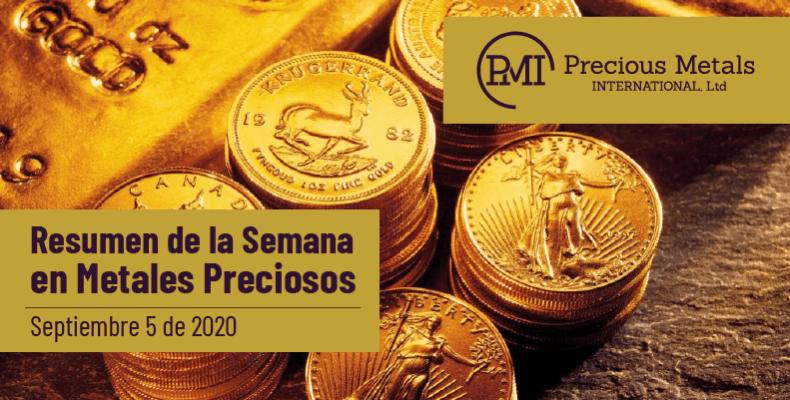 Resumen de la Semana en Metales Preciosos - Septiembre 5 de 2020.