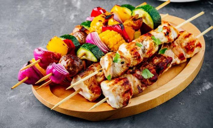 healthy bbq chicken kabob