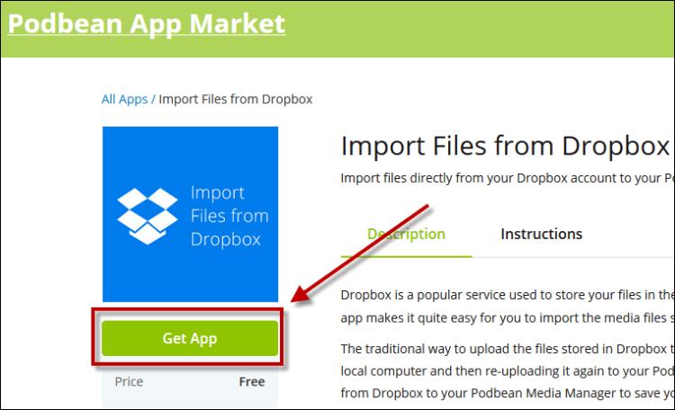 dropbox Get app