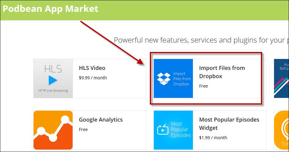 import files from dropbox app 1