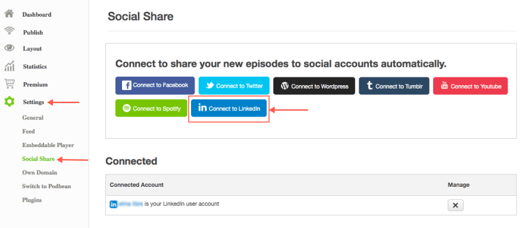 promote your podcast on linkedin connect