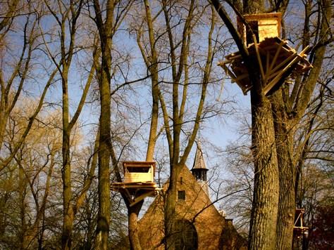 Tree Huts © Peter de Bruyne
