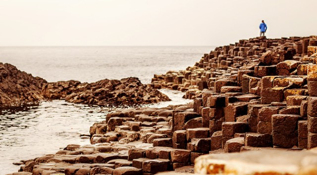 Giants CausewayWalker strolling out onto the Giant's Causeway